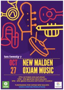 Oxfam New Malden concert Christar Productions